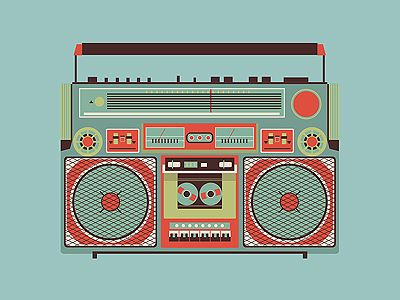 Download Free Boombox Vector Illustration