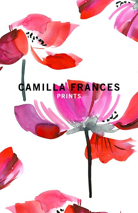 { estampa floral } Camilla Frances prints