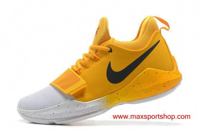 Nike PG 1 id Clean Yellow White Men's Basketball Shoes in