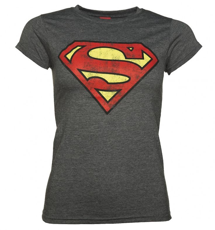Show off your wicked gift-giving skills and buy this awesome Superman logo tee for the super lady in your life! With a distressed finish and super-soft feel, it\'s a wardrobe classic for fans of DC\'s Man of Steel.