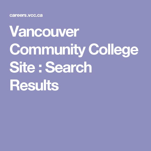 Vancouver Community College Site : Search Results
