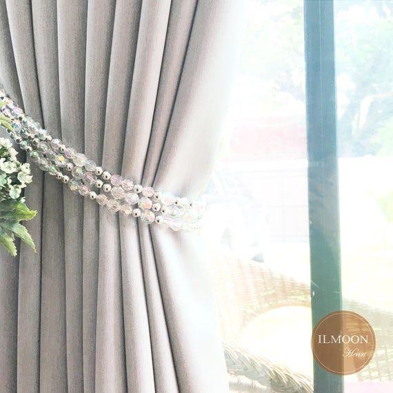 Pairx2 Crystal Curtain Tie Backs Crystal Tieback Crystal