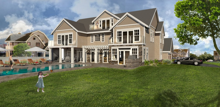Ocean Avenue Shore House Rendering #moneyshot #design