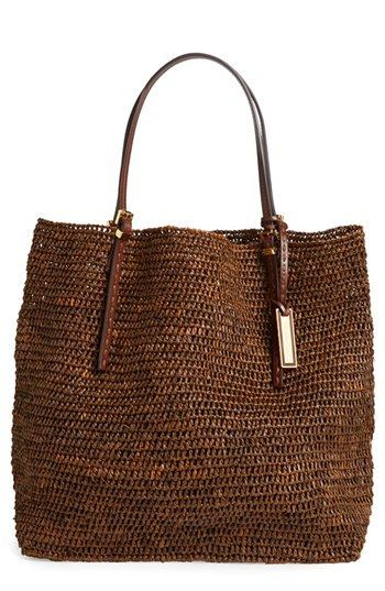 Michael Kors 'Santorini' Raffia Tote available at #Nordstrom