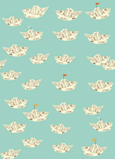 Macaroni Love Story Fabric Collection by Heather Ross for Spoonflower