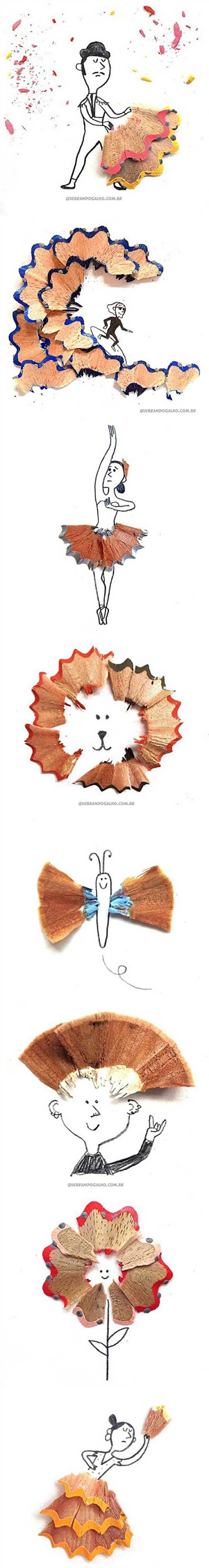 Pencil shavings art.