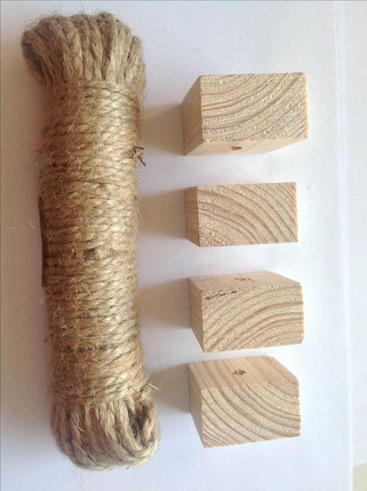 DIY - Chewing toys. Pine wood & jute twine. #szynszyle #chinchilla #chewing #toys #rodent #toy