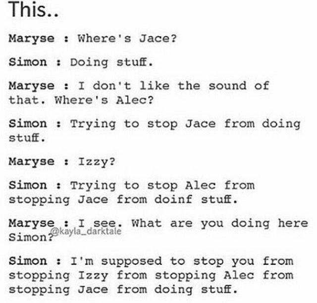 Clary: « I'm stuff »