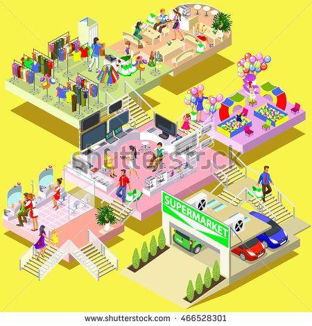 stock-vector-flat-d-isometric-shopping-mall-concept-shopping-mall-supermarket-store-market-marketplace-466528301.jpg (450×470)