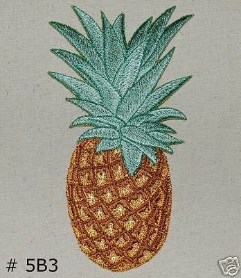 1pc~big tropical pineapple~iron on embroidered patch