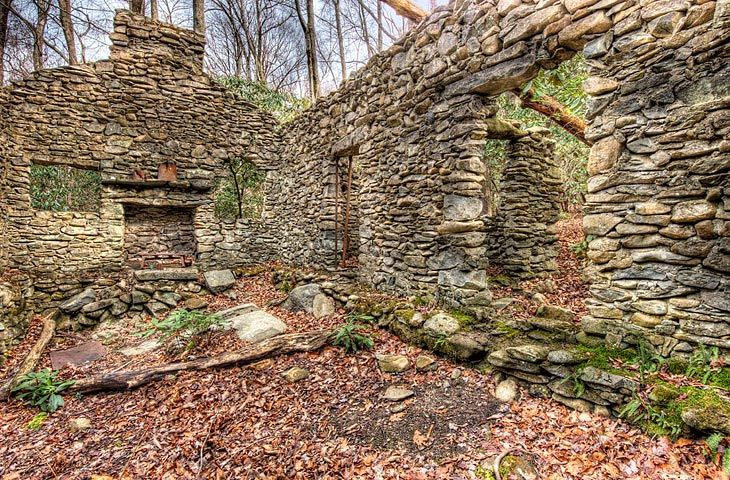 Tennessee Cabin Sugarlands Stone Cabin Ruins Tennessee