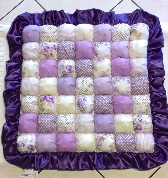 Pretty In Purple Puff Biscuit Bubble Blanket / by CandyUnraveled