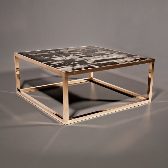 PETRIFIED WOOD COFFEE TABLE, Hudson Furniture