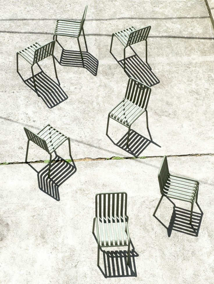 Pallisade van Hay - nice chairs, but the shadows are what make them really stand out