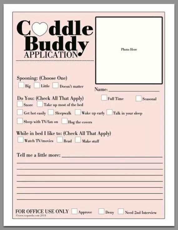 dating application forms