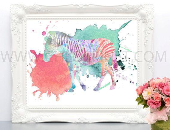 Cebra, cebra para imprimir, ilustración de cebra, dibujo de cebra, arte digital, ilustraciones de animales, acuarela, cuadro, cebra