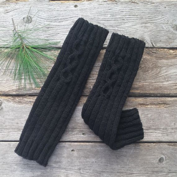 Jambières laine guêtres femme noire laine du par MaillesparMyriam
