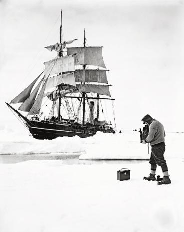 One of the most amazing photos I've seen. Captain Scott taken by Herbert Ponting. Late 19th century in the Antarctic