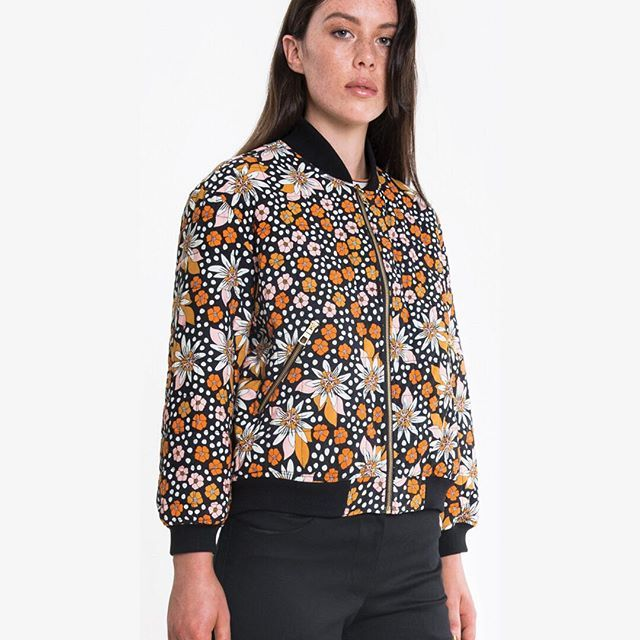 Get floral with your Autumn outerwear and nab a MARAKUYA QUILTED BOMBER JACKET while you can. Impeccably made in Melbourne with gold zip details and fully bound lining. Instore and online. #obus #obusclothing #bomberjacket #autumnjacket #cottonjacket #floraljacket #floralbomber #marakuyaprint #marakuya #twentyyearsofobus #colour #textiledesign #originaldesign #designedinmelbourne #madeinmelbourne #aw18 #autumn18 #quilted #quiltedjacket #buywellbuyonce