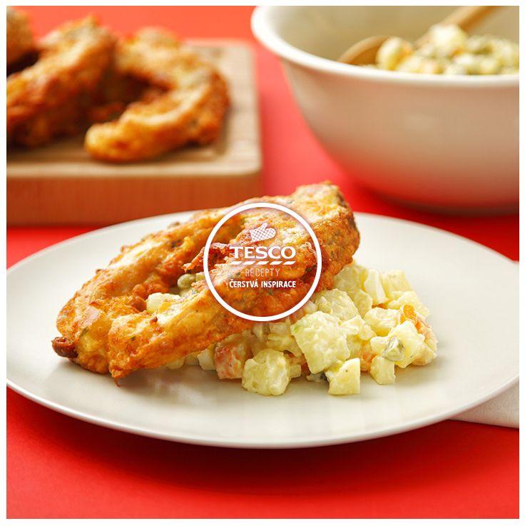 Smažený kapr v těstíčku a klasický bramborový salát  http://www.tescorecepty.cz/recepty/detail/243-smazeny-kapr-v-testicku-a-klasicky-bramborovy-salat