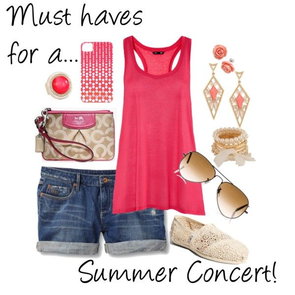 Summer Concert outfit-- Cute minus the shoes