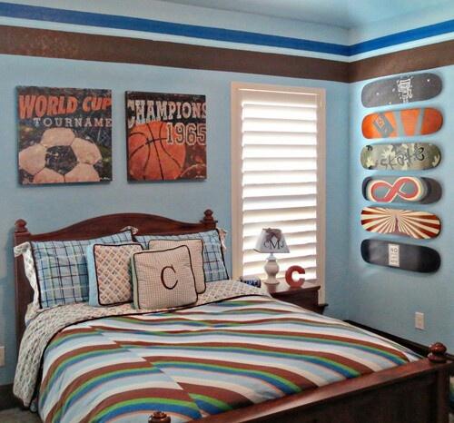 Boys Sports Room 30 best boy & girl room murals images on pinterest | bedroom ideas