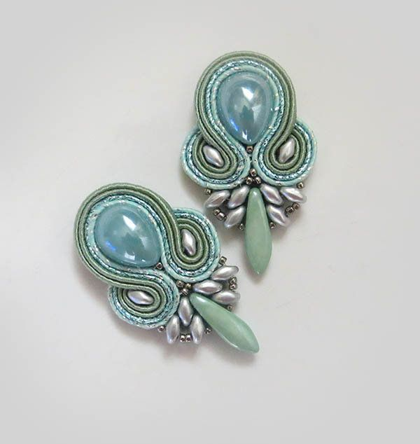 Excited to share the latest addition to my #etsy shop: Mint clip on sage green clip on soutache earrings pastel green clip on earrings soutache earrings sparkle gioielli Orecchini soutache http://etsy.me/2tnfZ35 #sutaszula #mintearrings #soutache #soutacheearrings