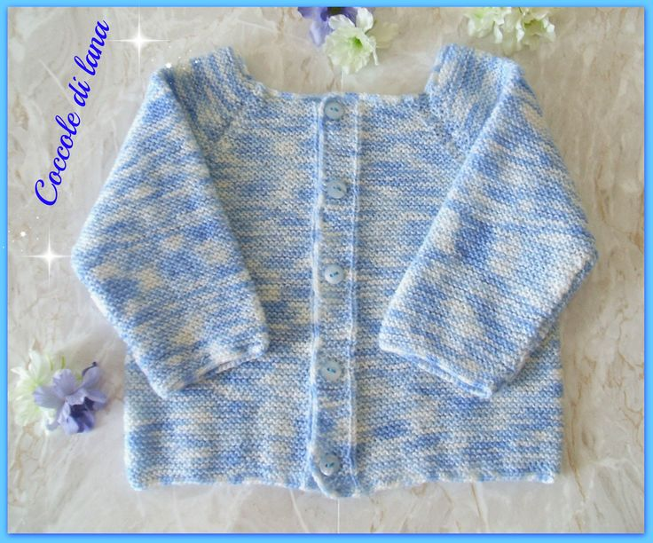 """Sweater for baby boy, newborn 0-3 months. Hand-knitted in unshrinkable 100% pure merino extrafine wool. Search for it in the store """"Coccole di lana"""" on www.ebay.it (here is the link: http://www.ebay.it/itm/272415908836?ssPageName=STRK:MESELX:IT&_trksid=p3984.m1555.l2649)"""