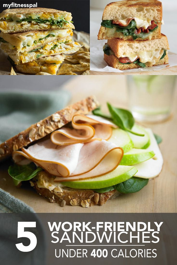 Take the guesswork out of packing a healthy lunch, with these under-400 calorie sandwiches! #myfitnesspal