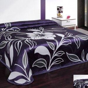 obojstranna fialova prikryvka na postel