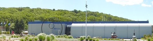 Submarine Force Museum  (home of historic ship Nautilus)  Front of the Museum