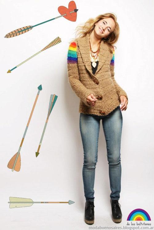 Sacos tejidos invierno 2013 moda De las Bolivianas