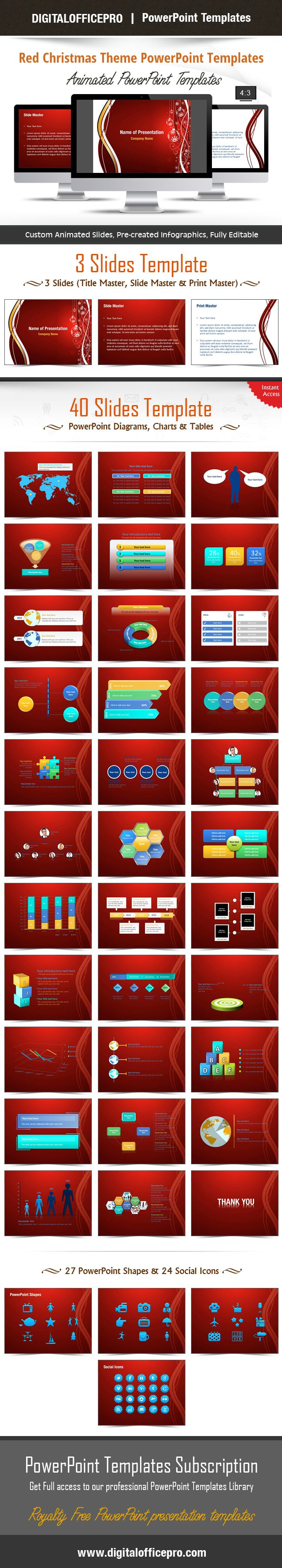 Oltre 20 migliori idee su download theme powerpoint su pinterest impress and engage your audience with red christmas theme powerpoint template and red christmas theme powerpoint toneelgroepblik Image collections