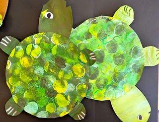 Painted Paper Turtles - Create Eric Carle inspired turtles.