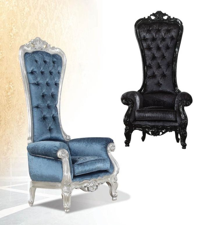 neo classic royal black accent chair