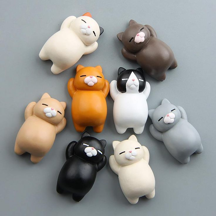 Fat Round Cat Magnets