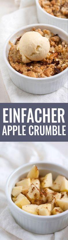 Einfacher Apple Crumble. Schnell und super lecker - Kochkarussell.com