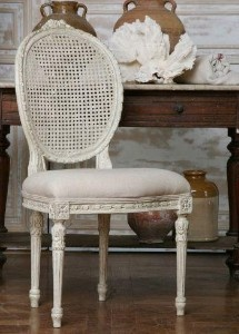 Annie Sloan Painted Cane Back Chairs!