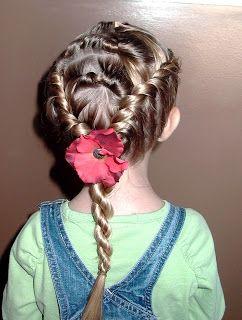 Little Girl's Hairstyles -Twist Rolls with French Twist Braids