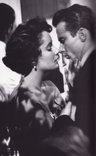 """Elizabeth Taylor and Montegomery Cliff ~ """"A Place in the Sun""""."""