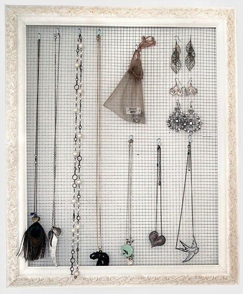 Superleuk idee om sieraden te organiseren