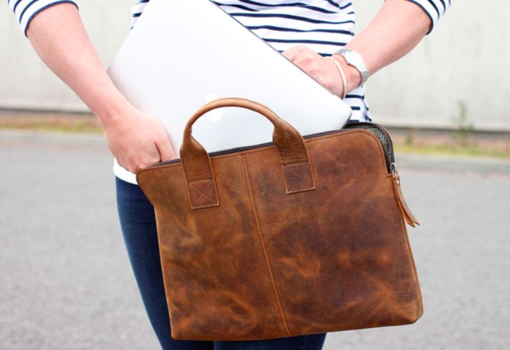 "This Leather Laptop Bag 13"" is a great way to travel in style. If you are looking for a combination of vintage styling, and compact features, this bag is perfect for you. #leather #laptopbag #christmasgift #giftideas #vintage"