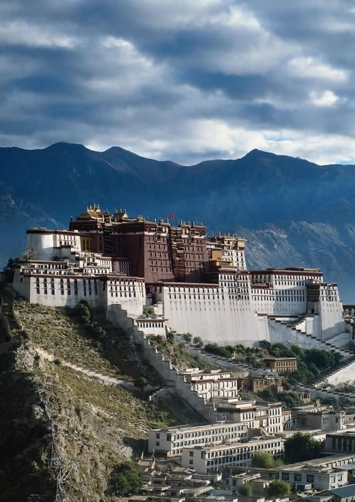 Ensemble of the Potala Palace, Lhasa, Tibet