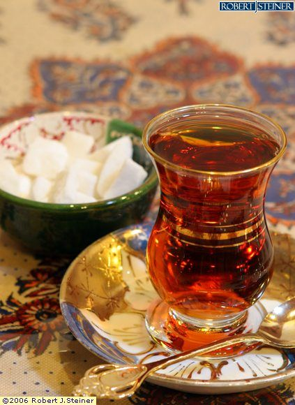 persian tea (persians do not put sugar cubes in the tea. They put it in their mouth and drink..the hot tea melts the sugar cubes....)