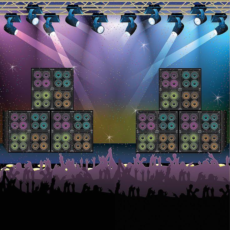 Rock Star Backdrop Banner - OrientalTrading.com