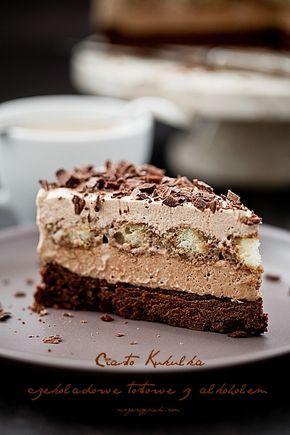 Kukułka ciasto czekoladowo - kawowe z alkoholem