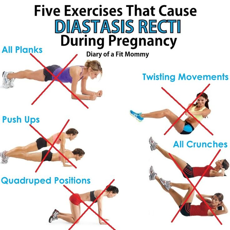 Diary of a Fit Mommy | Avoid These 5 Exercises During Pregnancy! They can cause Diastasis Recti!