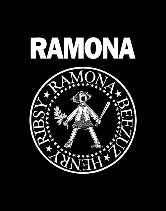Ramona Quimby print in the style of The Ramones.