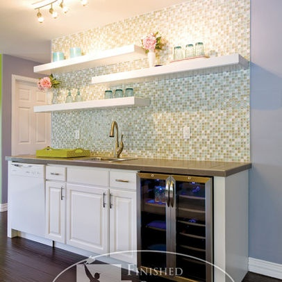 Eclectic basement photos black and white kitchens design for Kitchen cabinets lowes with basement wall art ideas