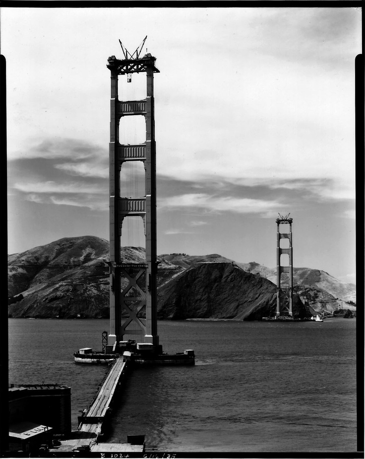 Construction of the Golden Gate Bridge, 1933-1937 - Retronaut